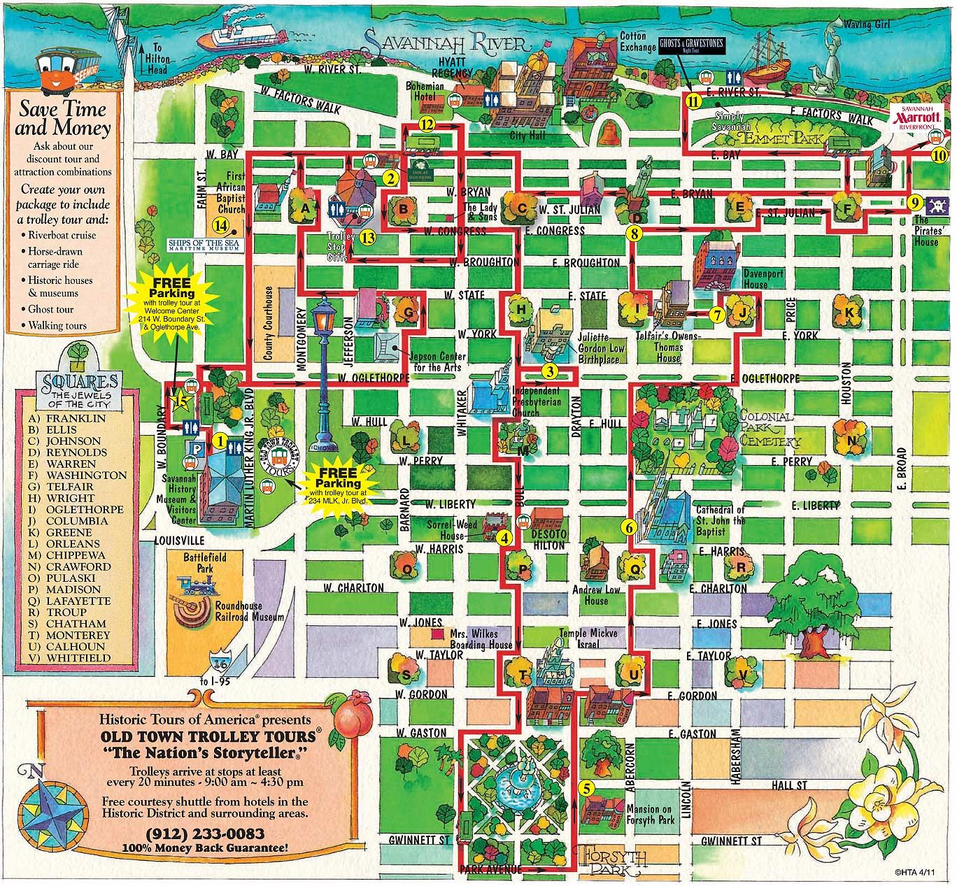 Haunted Places In Ipswich Qld: Savannah Old Town Trolley Route Map