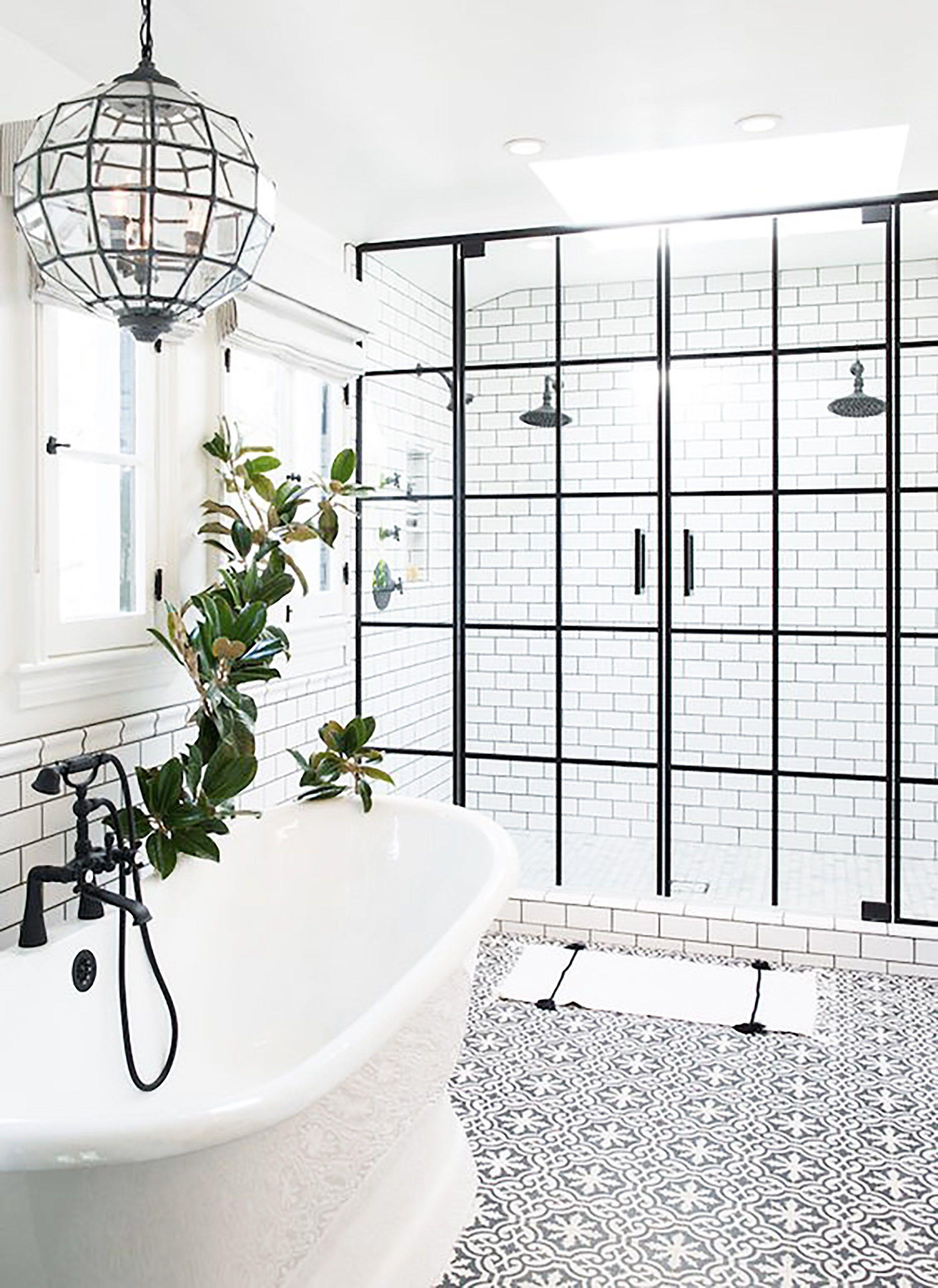 Black and white bathroom u contrast study decor pinterest