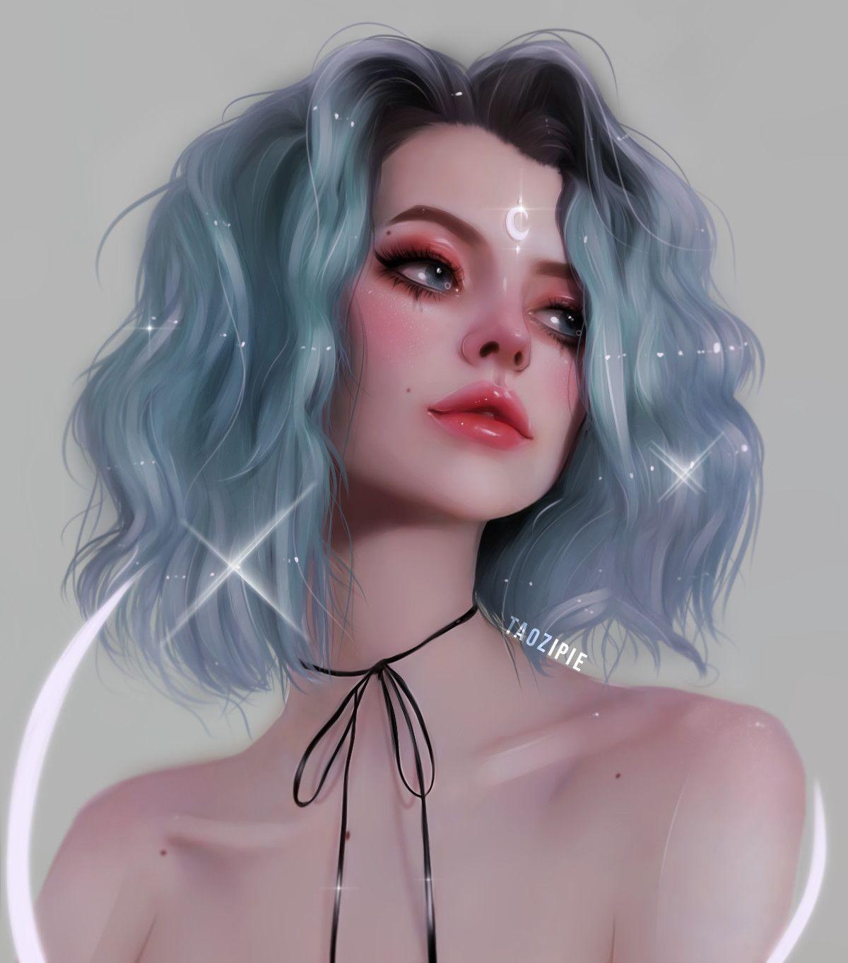 Digital Art digital art hair