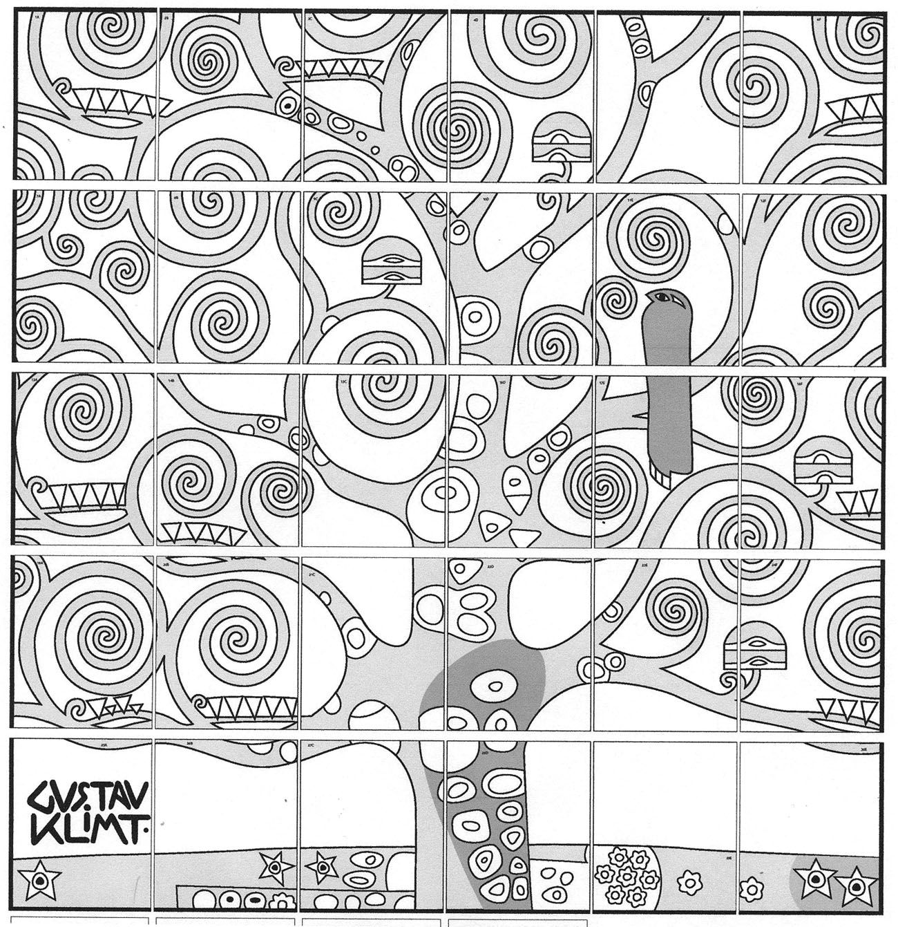 Gustav Klimt Tree Of Life Collaborative Art Projects Group Art