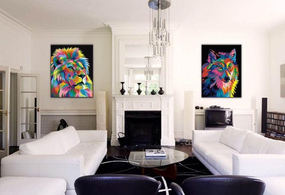 Картина по номерам «Королевский радужный лев» | Картины ...