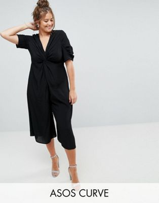 29dbcd4493c Women S Biggest Fashion Crimes. ASOS CURVE Tea Jumpsuit with Knot Front