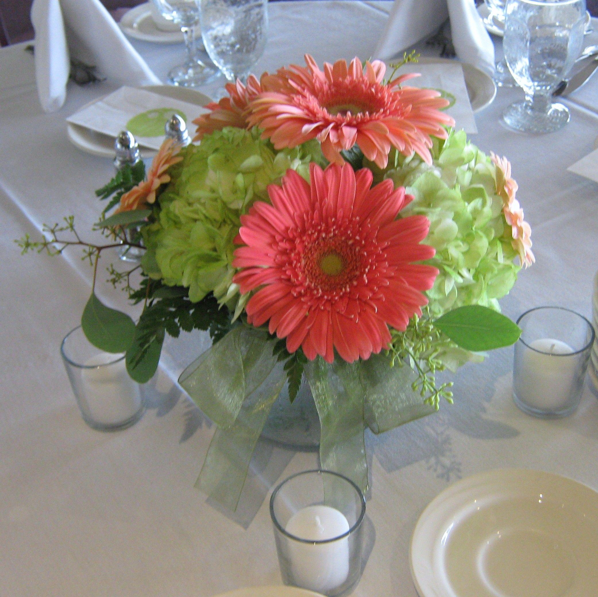 Gerbera Daisy Wedding Centerpieces Buffalo Wedding Flowers