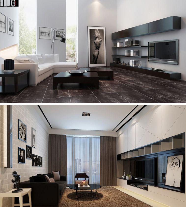Modern interior design 3d visual perspective for Decoracion hogar 3d