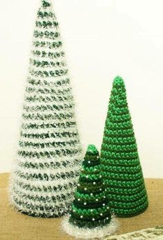 Photo of Christmas Trees – Free Crochet Patterns