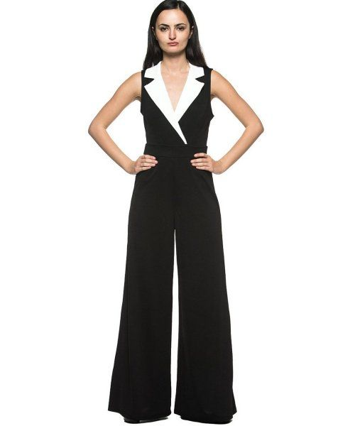 Beautiful Plus Size Mother of The Bride Pant Suits - Black & white ...