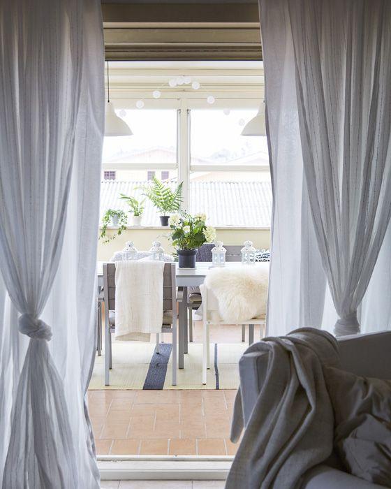 Zwei Gardinen übereinander sind eine gute Idee | Wohnung | Pinterest ...