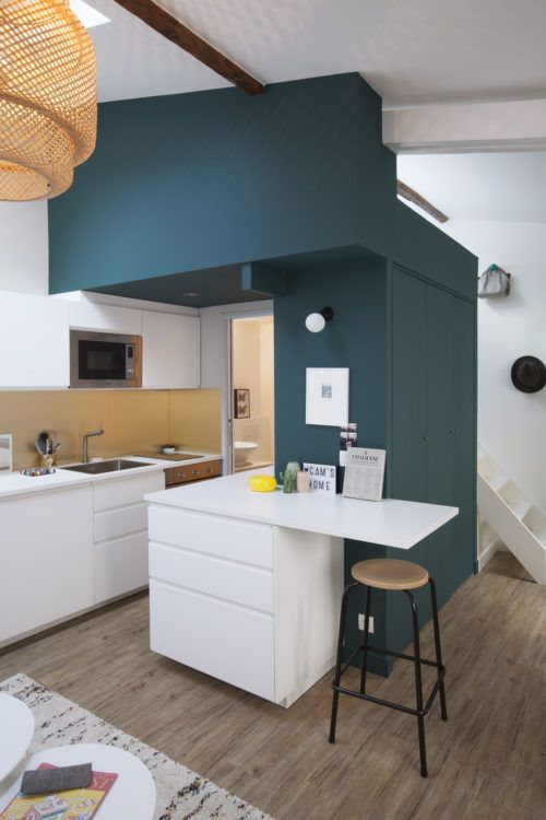 La Tete Dans Les Etoiles Dans 27 M En Mezzanine Amenagement Petit Appartement Amenagement Studio 20m2 Amenagement Petit Espace