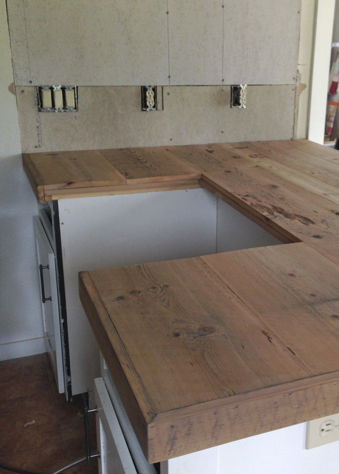 Diy Reclaimed Wood Countertop Reclaimed Wood Countertop Wood