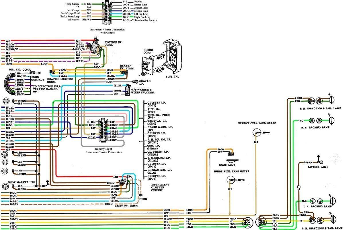 67-72 Chevy Wiring Diagram inside 1972 Chevy Truck Wiring ...