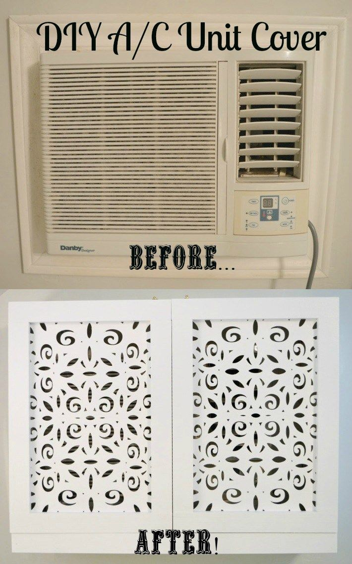DIY AC Unit Cover Air conditioner cover House and Apartments