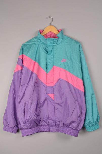 Jacket 90s Style 90s Jacket 90 S Fashion Vintage Retro Windbreaker Vintage Windbreaker Vintage Nike Windbreaker Colorful Pink Blue Purple In 2020 Vintage Nike Jacket Vintage Jacket