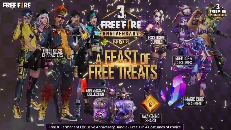 Pic 1 3rd Anniversary Ahoy Welcome Back Guys Garena Free Fire Is About To Create Another Milestone In Its History I E The Anniversary Bike Pic Free Free fire endgame wallpaper download
