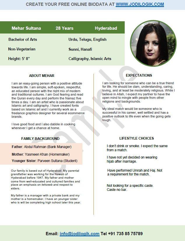 Muslim matrimonial resume custom school term paper help