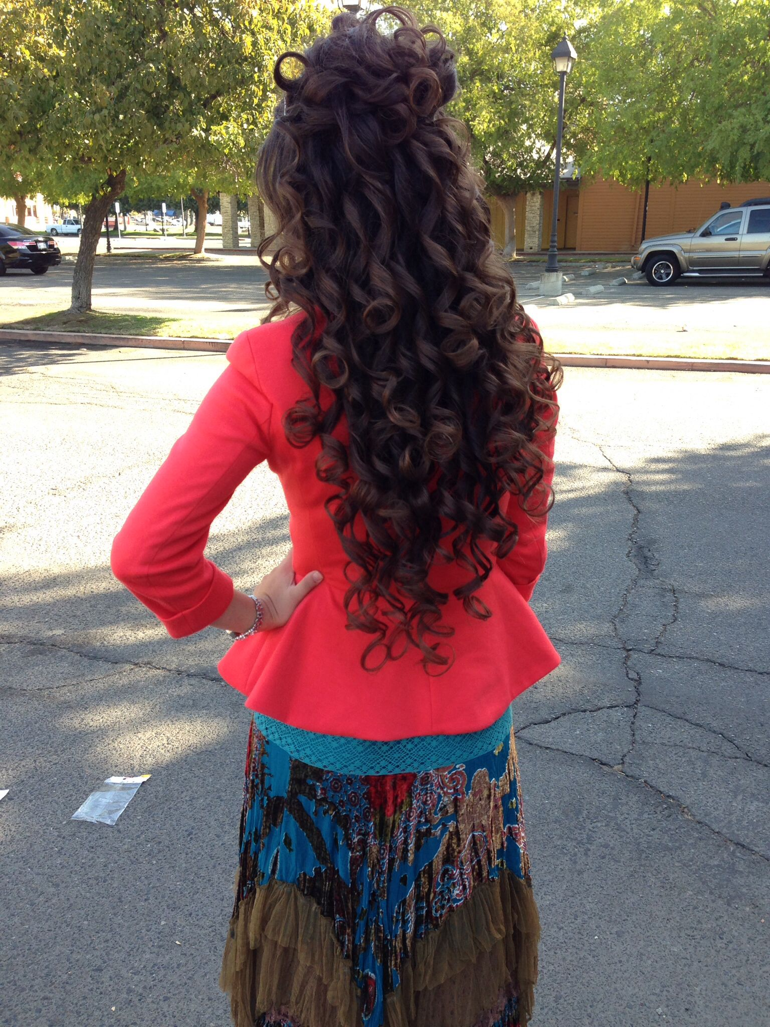 Ha Hair Accessories For Apostolic Long Hair - Hot rollers make beautiful curls apostolic hair