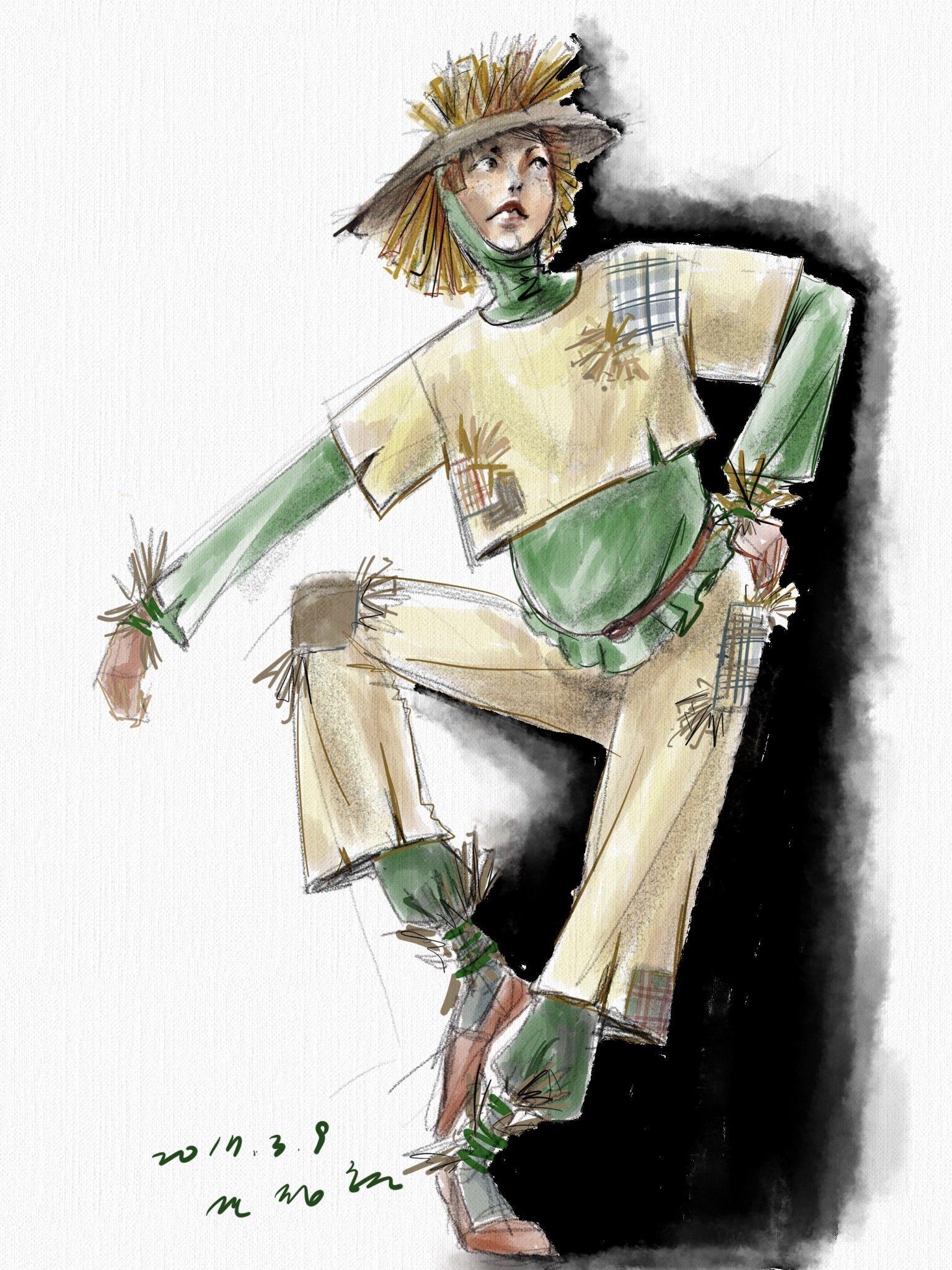 costume drawing-오즈의마법사-허수압ㅣ