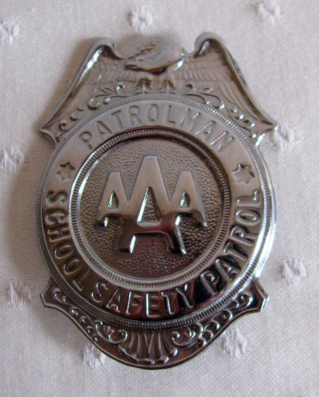 1960s Vintage AAA Patrolman School Safety Patrol Badge