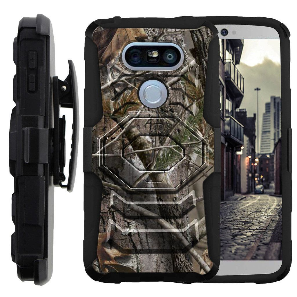 LG G5 Case ARMOR RELOADED, Holster Combo, Impact Resistant Stand - Hunters Camouflage
