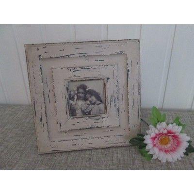 Cornice shabby  portafoto in legno decapato