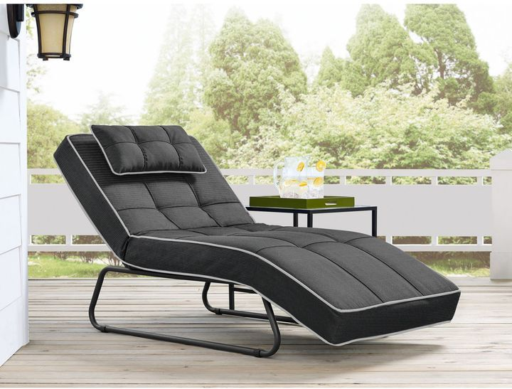 Relax A Lounger Bayshore Outdoor Convertible Chaise Sleep Outside In This For The Summe Teak Chaise Lounge Outdoor Chaise Lounge Outdoor Lounge Chair Cushions