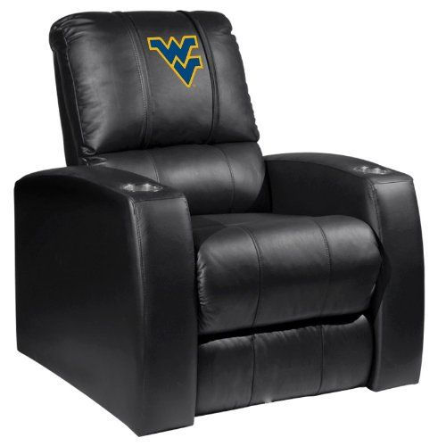 Astonishing Home Theater Recliner With West Virginia Mountaineers Logo Ncnpc Chair Design For Home Ncnpcorg