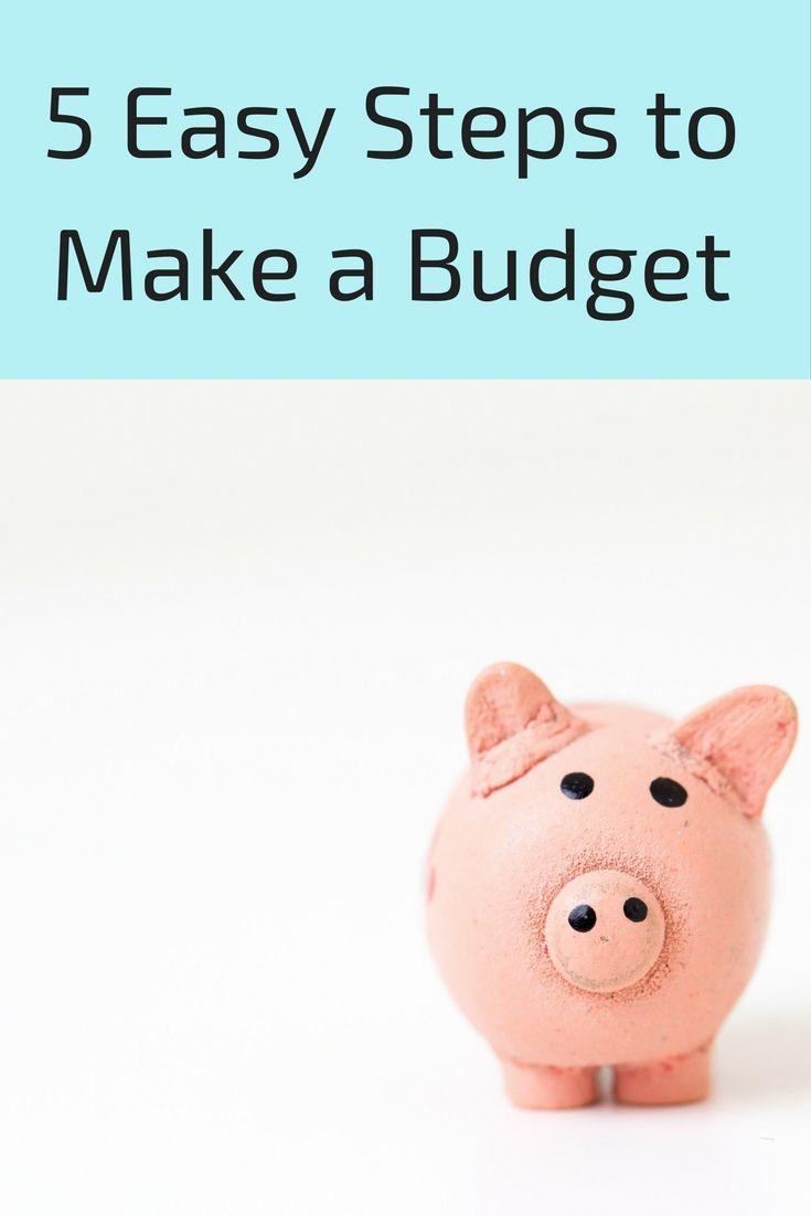 5 easy steps to make a budget making a budget budgeting
