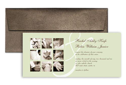 Print Personalize Photo Microsoft Wedding Invite 9x4 in - microsoft invitation templates