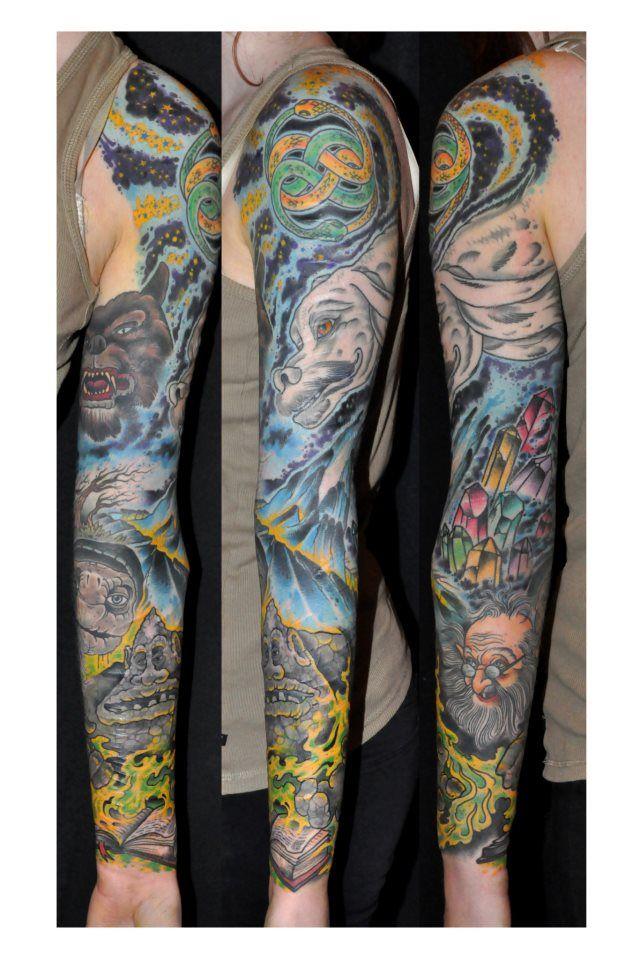 Story Sleeve Tattoo: Neverending Story Sleeve?!!! Jealous!!