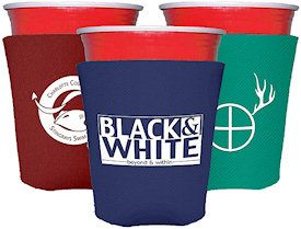 Collapsible Foam Solo Style Cup Insulators | Custom Koozies | Cheap Personalized Wedding Koozies