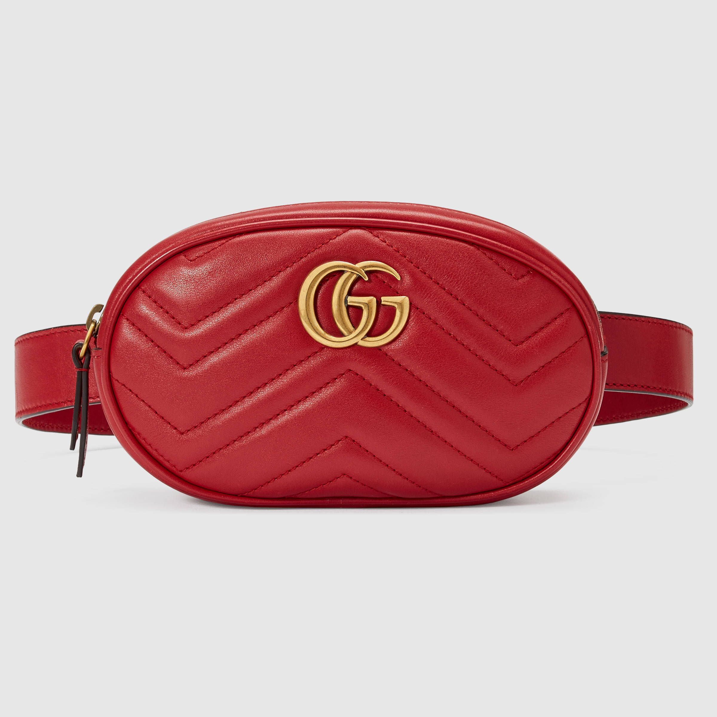815a2cab3e7 GG Marmont matelassé leather belt bag in 2019