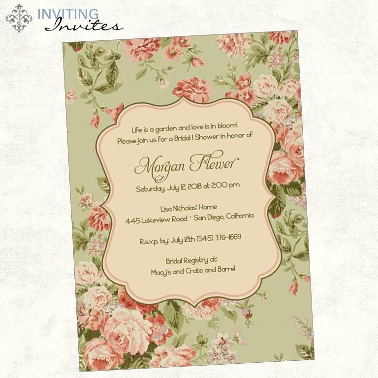 English garden rose bridal shower or baby shower invitation english garden rose bridal shower or baby shower invitation printable digital file filmwisefo Images