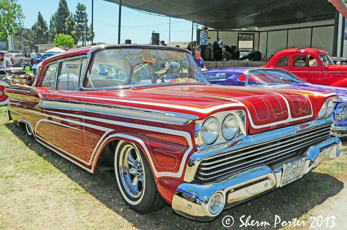 1959 Ford Fairlane 2 Door Post With Images Ford Fairlane