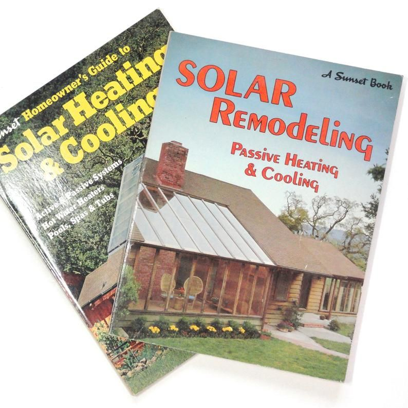 2 Book Deal Solar Remodeling Solar Heating Cooling Both By