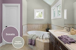 Pittsburgh paint colors taupe 103 mauve and english for Mauve kitchen walls