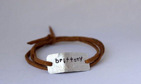 CUSTOM name bracelet, hand stamped, gift for mom, mother's day, graduation gift