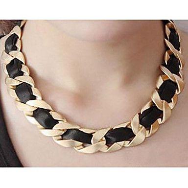 collar de cadena de tejido negro (Compre 1 lleve 2 regalos gratis) – CLP $ 2.473