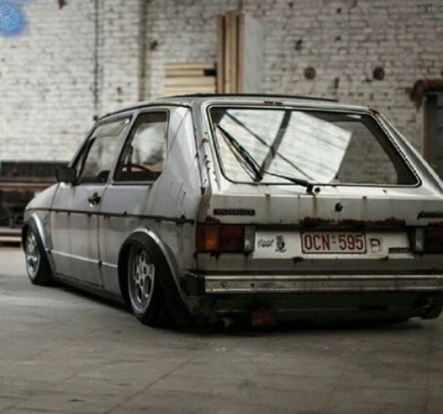 "VW Golf with ""patina""."