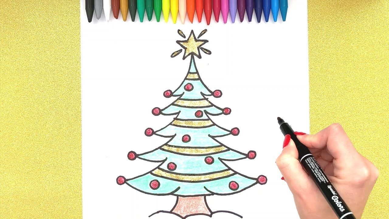 Christmas Tree Drawing How To Draw A Christmas Tree Simple Drawing C Christmas Tree Drawing Tree Drawing Christmas Drawing