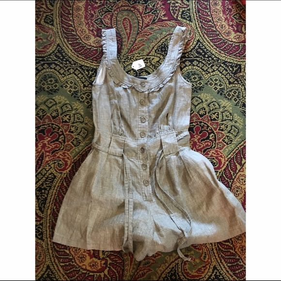 Beige Nanette Lepore jumpsuit Business casual replete with girly frills Nanette Lepore Other