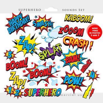 Superhero Clipart Comic Book Clip Art Super Heroes Sounds