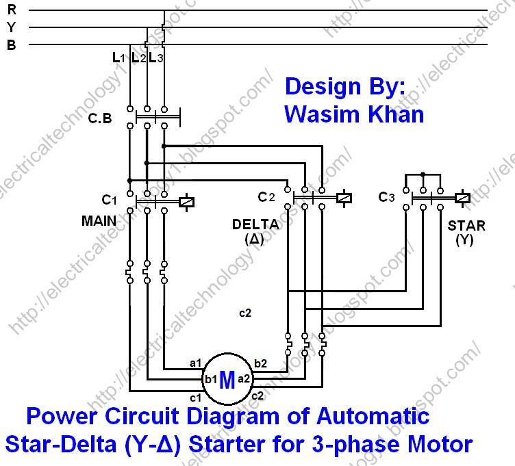 Wiring Diagram Of Star Delta Starter: Star Delta 3-phase Motor Automatic starter with Timer Power ,Design