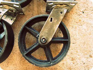 Vintage Rustic Casters Diy One Day Vintage