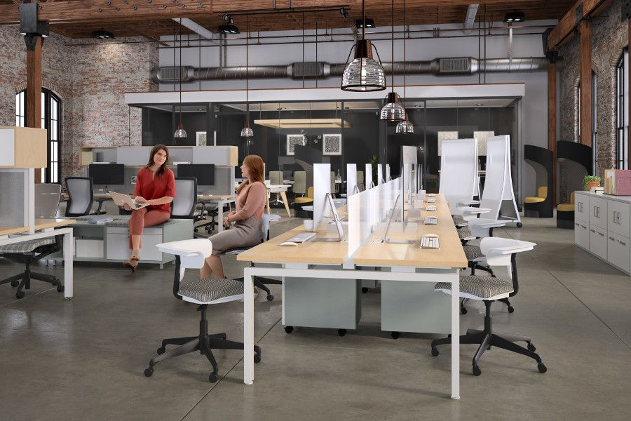 Connection Zone S Universal Design Supports The Focused Work Of An Individual Serves As A Touch Down Space For A Tempo Furniture Table Furniture Diy Furniture