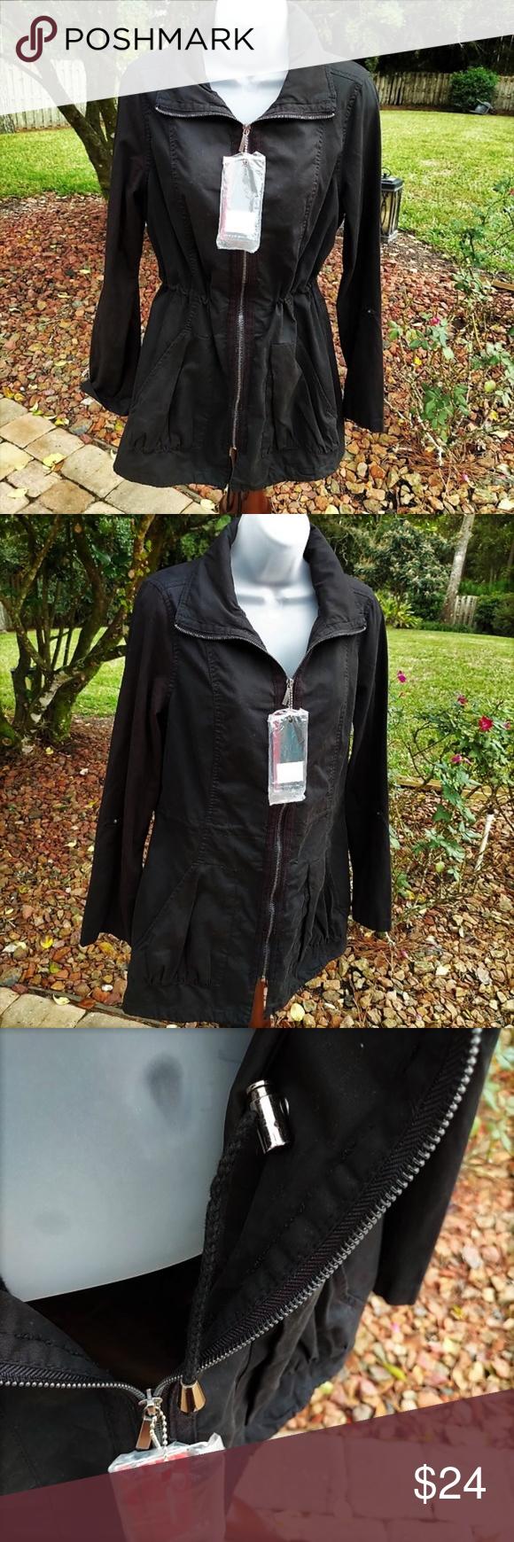 Yoki Outerwear Anorak Jacket Nwt M Clothes Design Fashion Design How To Roll Sleeves [ 1740 x 580 Pixel ]