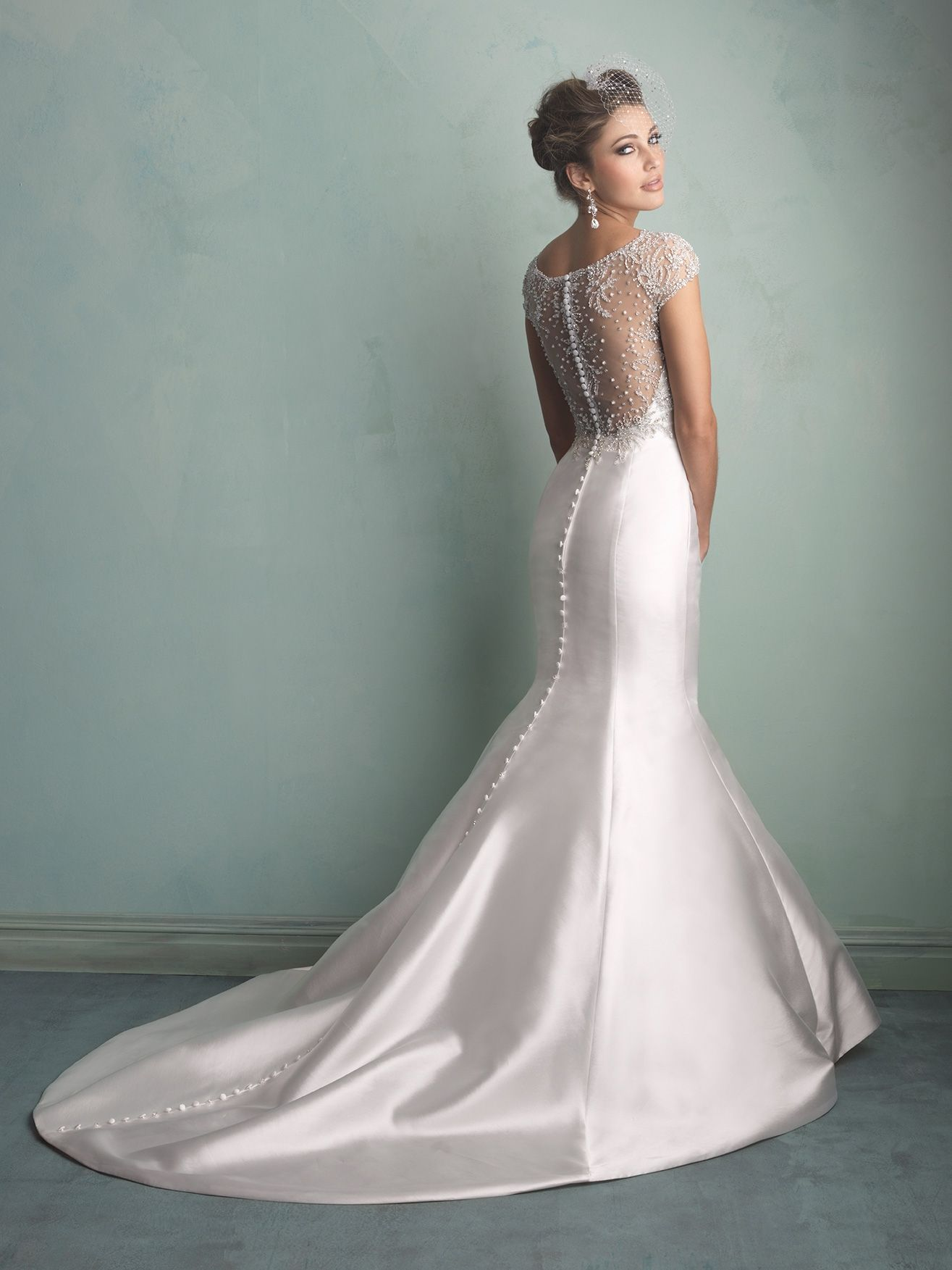 Who doesn\'t love a wedding dress with a dramatic back? From the new ...