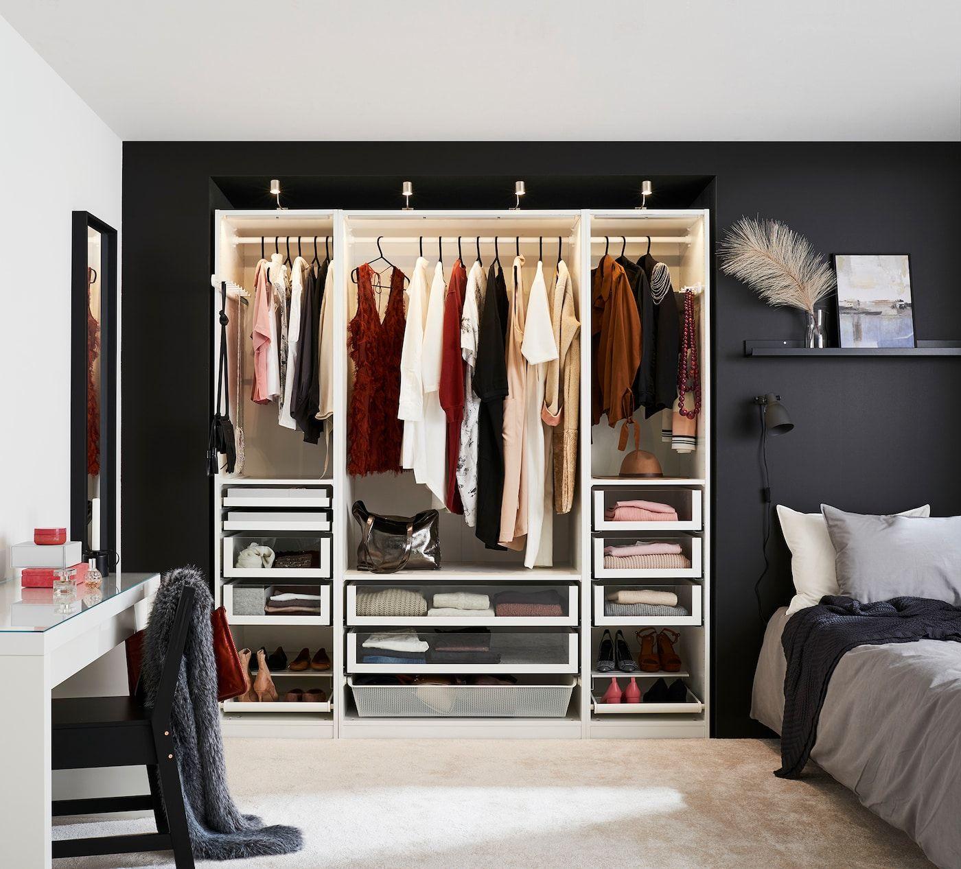 Schrankbeleuchtung Fur Deinen Kleiderschrank Schrankbeleuchtung Rustikales Schlafzimmerdesign Schlafzimmerorganisation