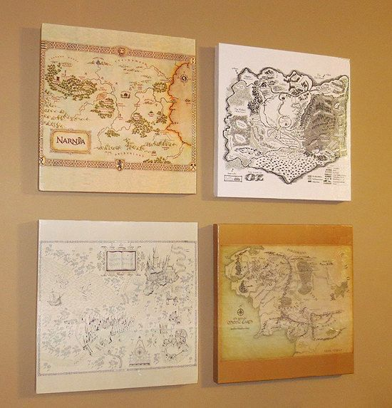 Wooden Geeky Maps Wall Art | 29 Geek DIY's To Make Right Now