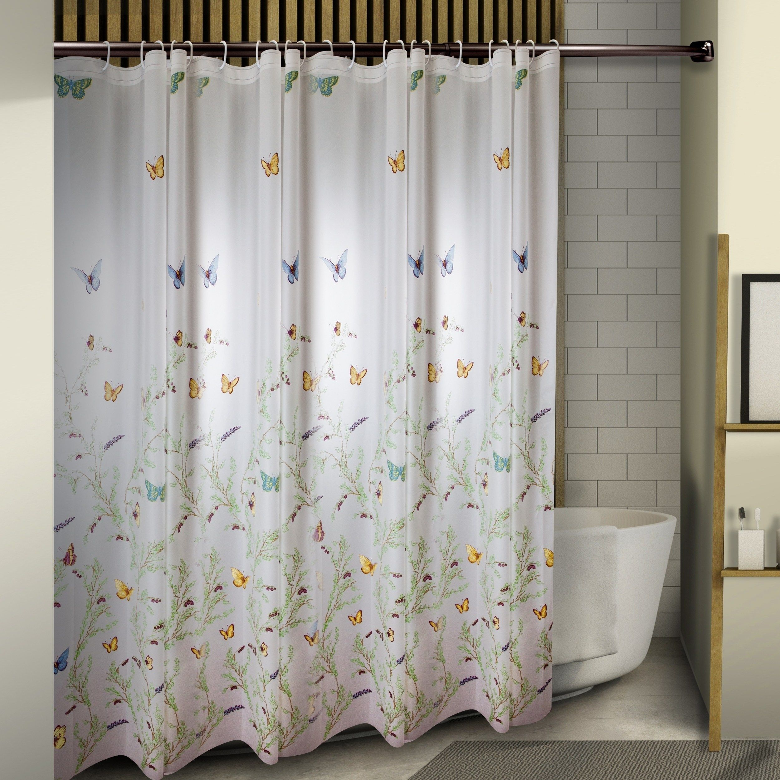 Instyledesign Butterflies Shower Curtain 71 X 71 Multi