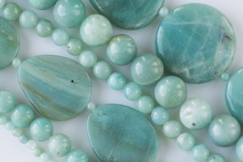Amazonite Is A Beautiful Green And Blue Stone With Light White