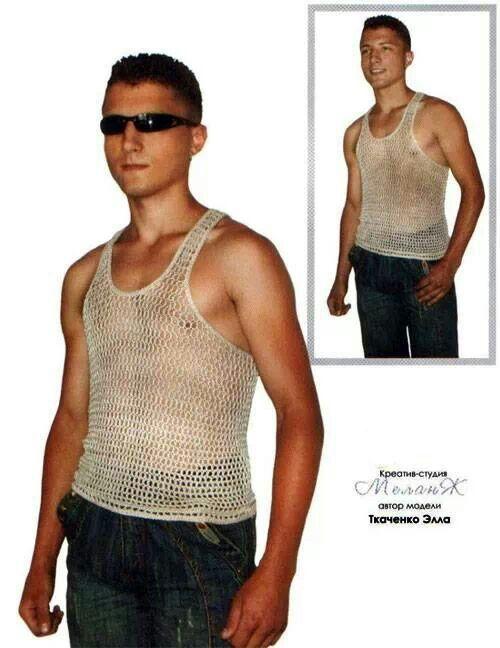 Unterhemd Crochet Men 0b5cb836c8b
